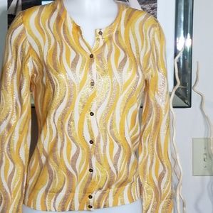 J. Crew Yellow Sweater Sz M